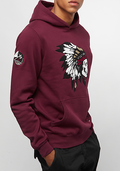 Cayler & Sons BL Patched Hoody bordeaux/mc