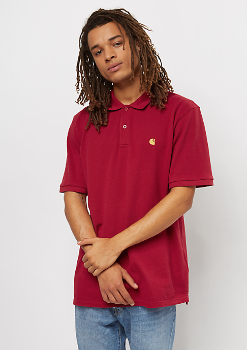 Carhartt WIP Chase Pique blast red/gold
