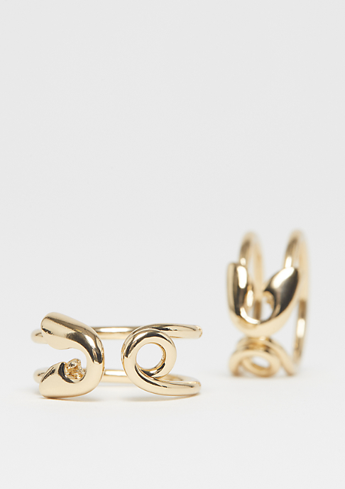 Cheap Monday Safety Pin Rings gold
