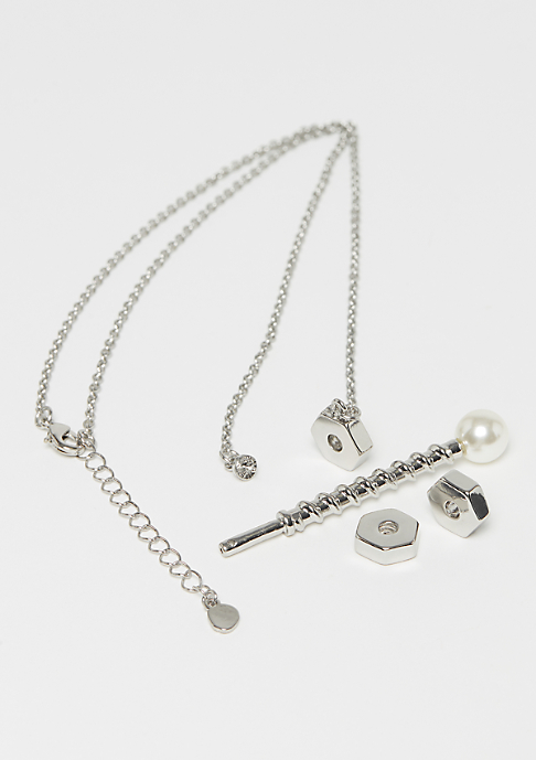 Cheap Monday Screw Necklace rhodium