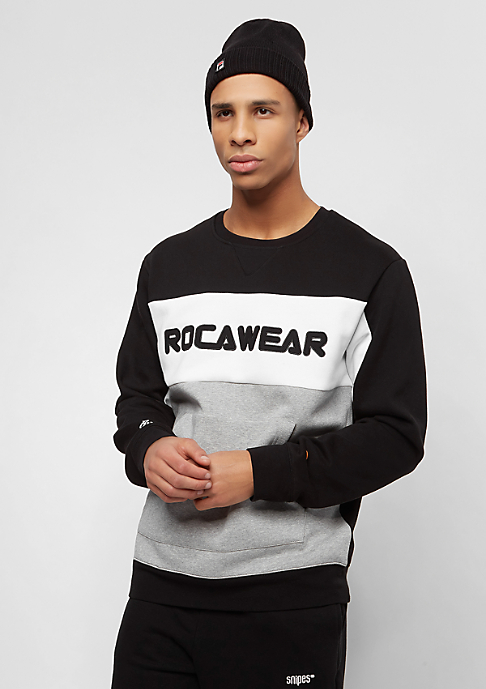 Rocawear Color Block Crewneck black