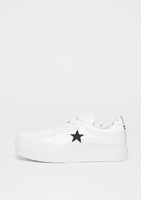 Converse One Star Platform OX white/illusion green/black