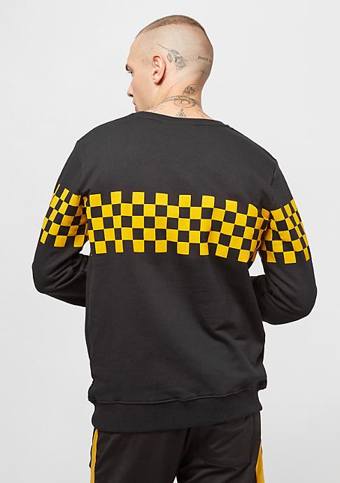 Criminal Damage Sweat Chequerboard black/yellow