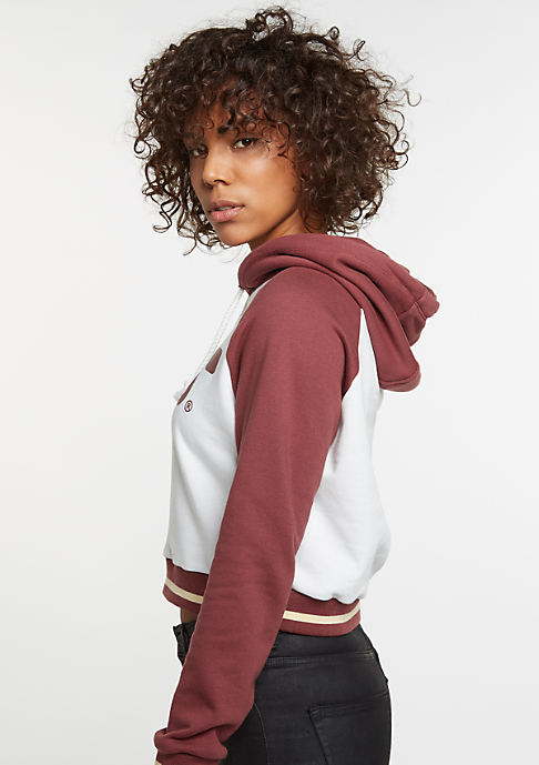 SNIPES Hooded-Sweatshirt College white/bordeaux