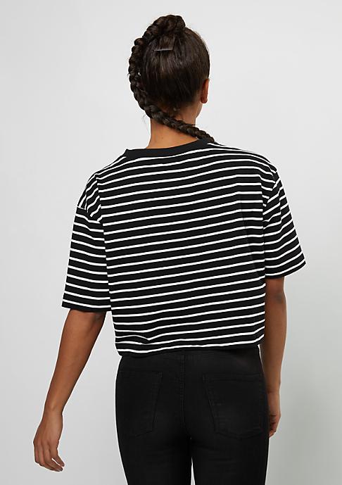 Urban Classics Short Striped Oversized Tee black/white