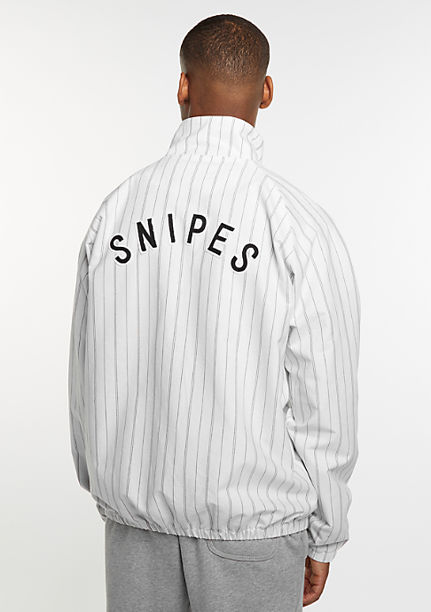 SNIPES Trainingsjacke Pinstripe Cotton white/black