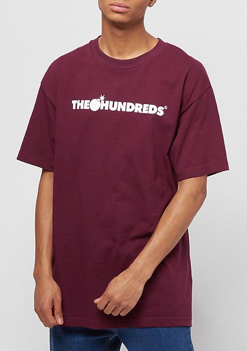 The Hundreds Forever Bar Logo burgundy