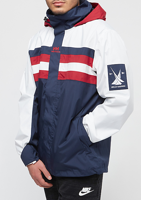 Helly Hansen Wind Breaker evening blue/red/off white