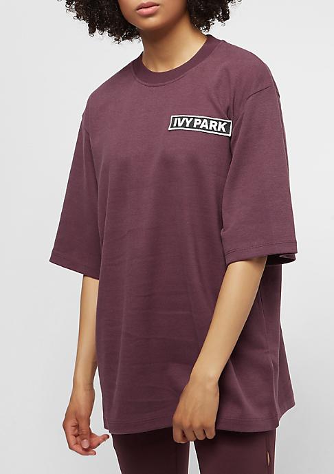 IVY PARK Badge Logo Oversized purple