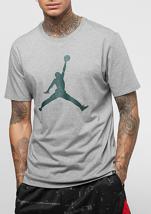 JORDAN Iconic Jumpman carbon heather/midnight green