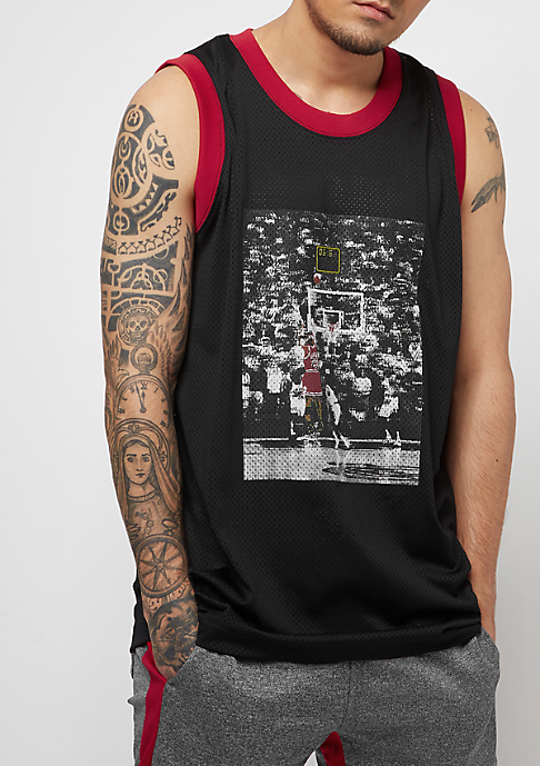 JORDAN The Last Shot Mesh Jersey black/gym red/gym red