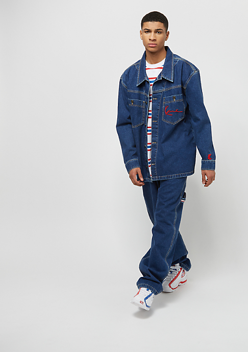 Karl Kani Karl Kani x Snipes Denim Baggy Pants blue