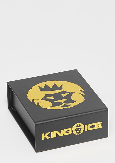 King Ice CZ Teardrops Jesus Piece gold