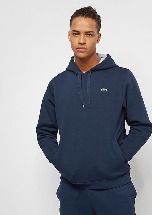 Lacoste Hoody Sweatshirt navy blue/silver chine