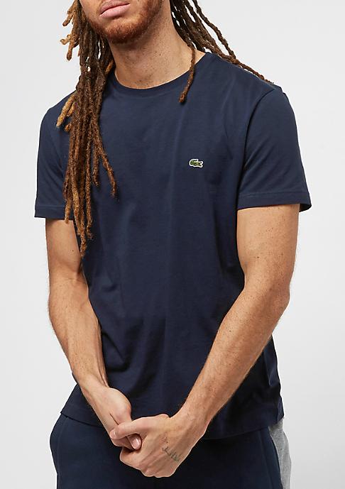 Lacoste Short Sleeved Crew Neck marine