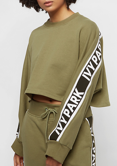 IVY PARK Logo Tape Crop Crew dark green