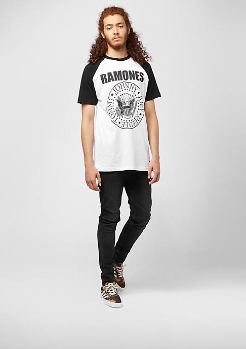 MERCHCODE Ramones Circle Raglan white/black