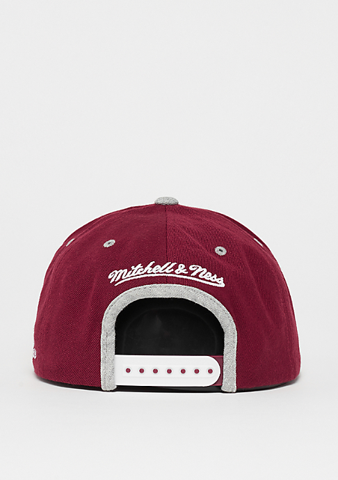 Mitchell & Ness Interlocked The2Tone Grey Heather Arch burgundy/grey heather