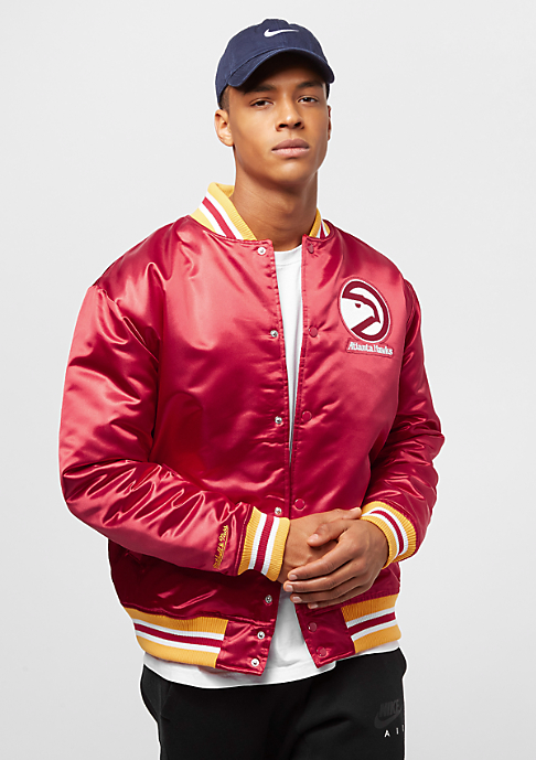 Mitchell & Ness NBA Satin Atlanta Hawks red