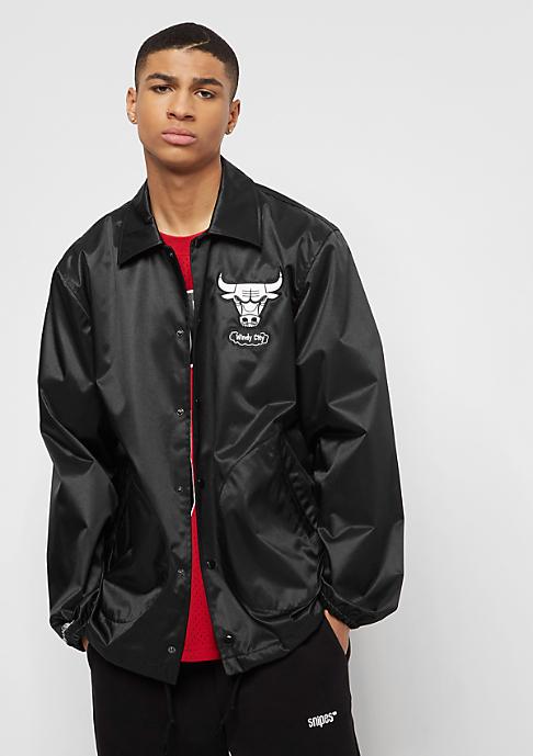 Mitchell & Ness NBA Satin Chicago Bulls Coach Jacket black