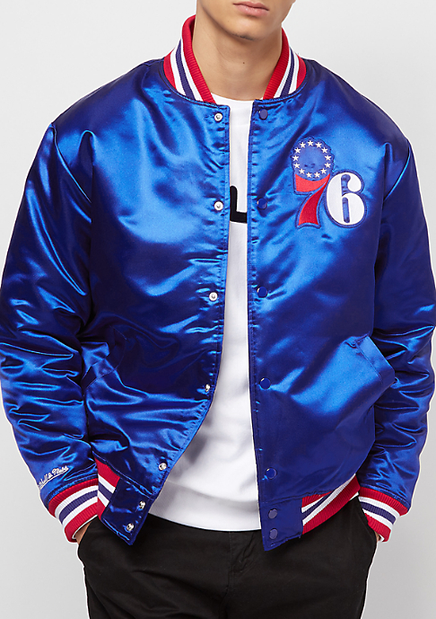 Mitchell & Ness NBA Satin Philadelphia 76ers royal