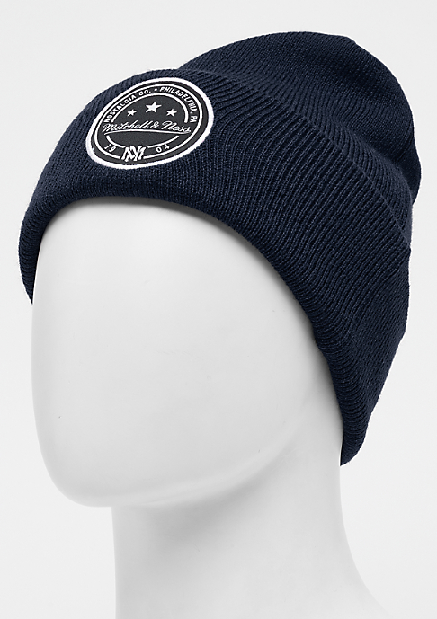 Mitchell & Ness Patch Cuff Knit navy