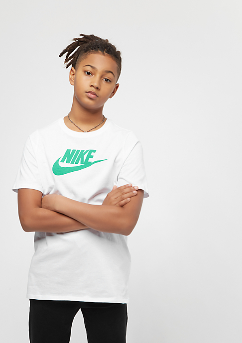 NIKE Junior Futura Icon white/kinetic green