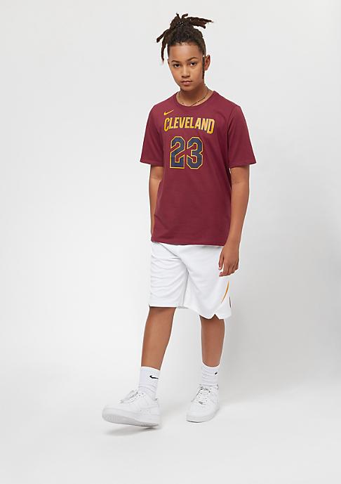 NIKE Kids Cleveland Cavaliers LeBron James burgundy