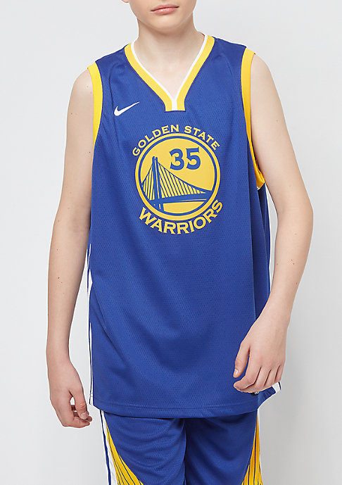 NIKE Kids NBA Golden State Warriors Jersey Kevin Durant blue