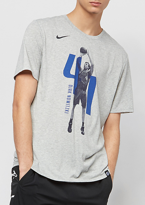 NIKE NBA Dallas Mavericks Dirk Nowitzki Player grey heather