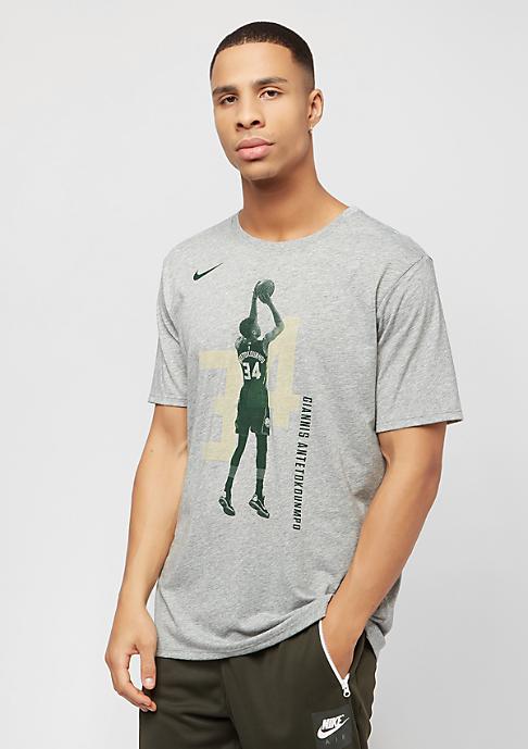 NIKE NBA Milwaukee Bucks Giannis Antetokounmpo Player grey heather