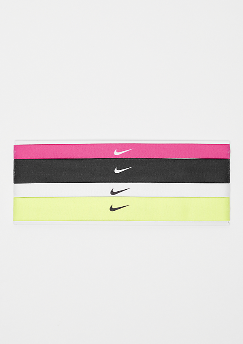 NIKE Printed Headbands Assorted 4 Pack vivid pink/black/whitte