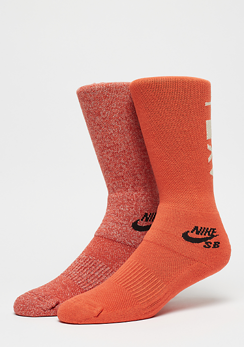 NIKE SB Crew Skateboarding Socks 2er multicolor
