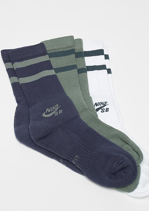 NIKE SB Crew Skateboarding Socks 3er multicolor