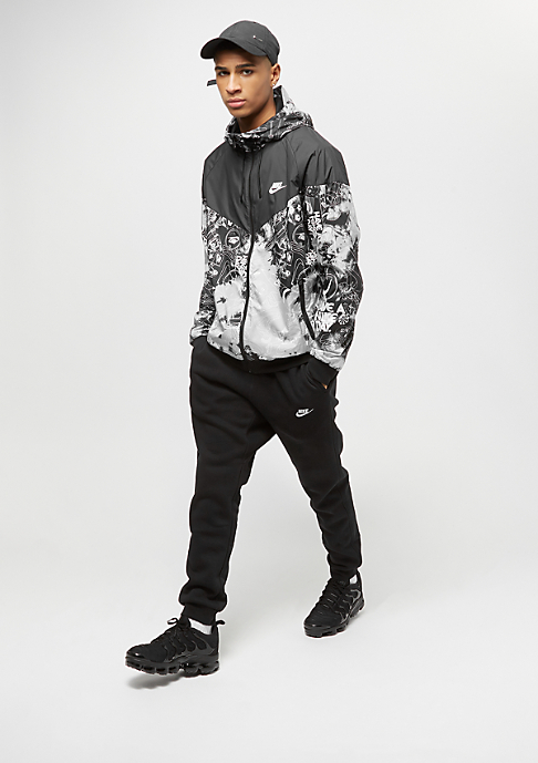 NIKE Sportswear Tie Dye wolf grey/black/white