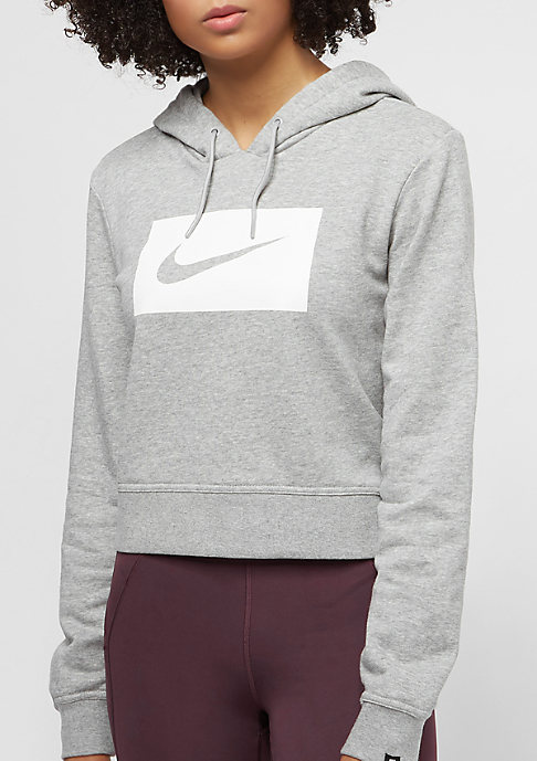 NIKE Swoosh dk grey heather/white