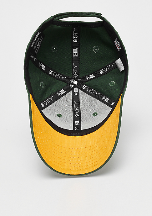 New Era 9Forty NFL Green Bay Packers official team colour green