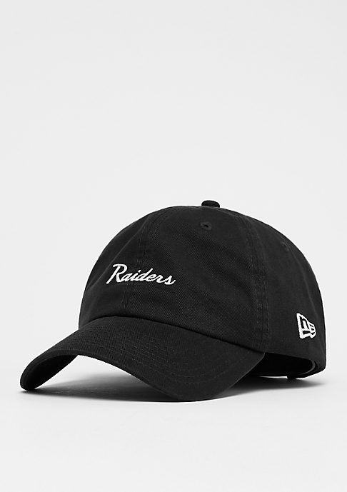 New Era 9Forty NFL Oakland Raiders Mini Script official team colour