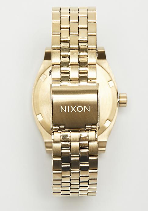 Nixon Medium Time Teller light gold/manuka
