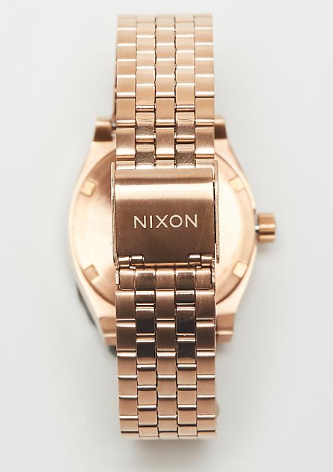 Nixon Medium Time Teller all rose gold/brown
