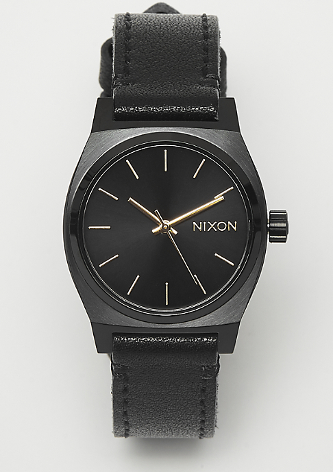 Nixon Medium Time Teller Leather all black