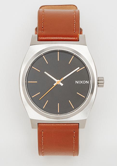 Nixon Time Teller silver/black/brown