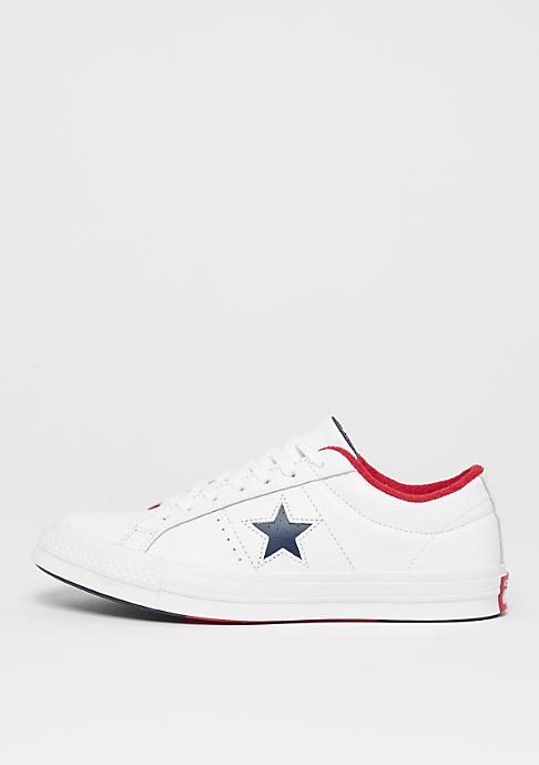 Converse One Star Ox white/athletic navy/enamel refd