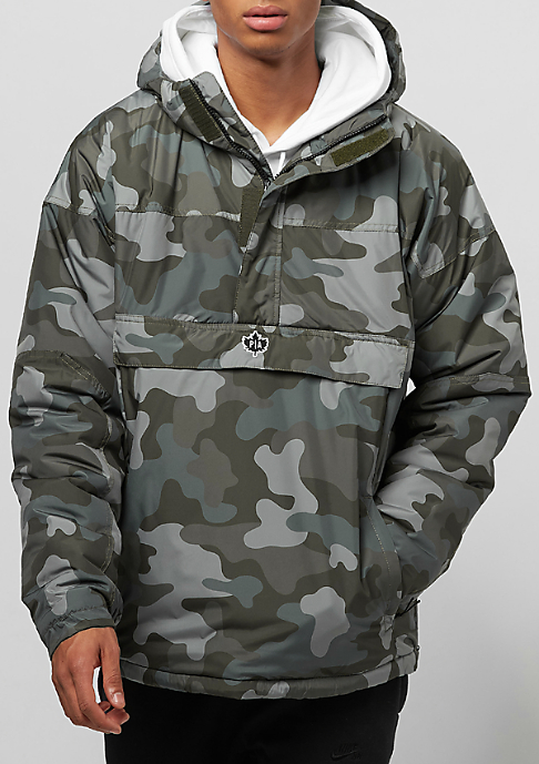 Park Authority by K1X Hooded Halfzip woodland camo