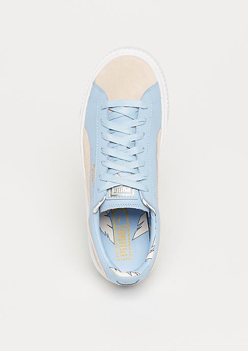 Puma Basket Platform Coach silver peony-cashmere blue