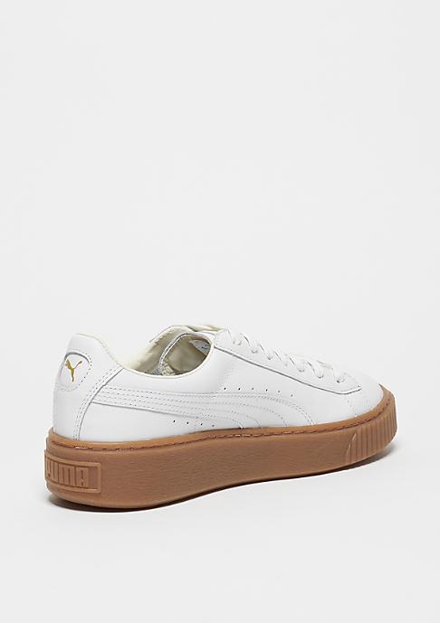 Puma Schuh Basket Platform Core puma white/puma white