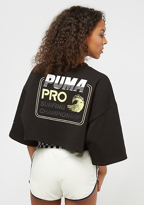 Puma Fenty By Rihanna Cropped Crew Neck black