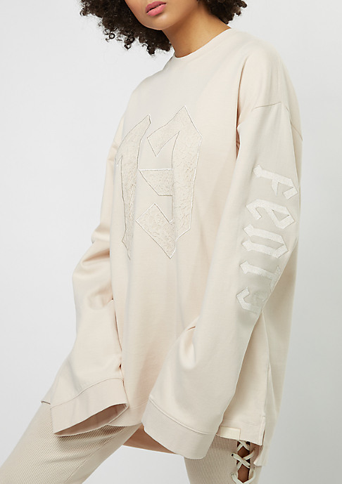 Puma Fenty by Rihanna Long Sleeve Graphic Crew Neck pink tint