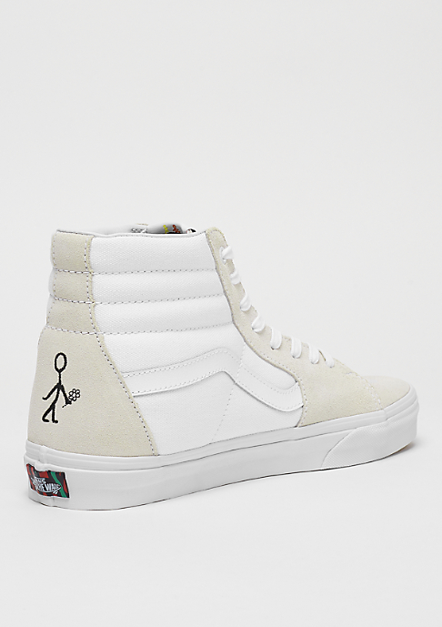 VANS UA SK8-Hi x A Tribe Called Quest true white/red
