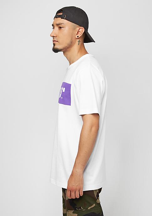 SNIPES Box Logo white/purple